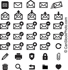 Email Icon set for your design