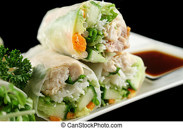 Vietnamese Rice Paper Rolls 4 - Delicious and healthy...