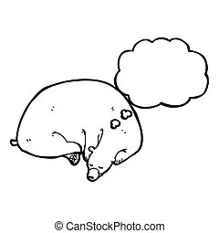 sleeping bear cartoon