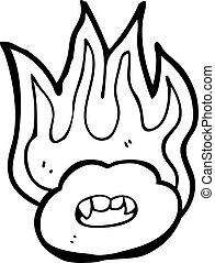 cartoon flaming hot lips