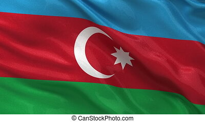 Azerbaijan flag seamless loop