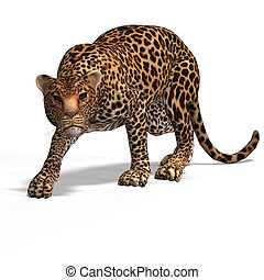 Big Cat Leopard - Dangerous Big Cat Leopard With Clipping...