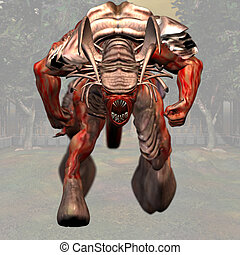 Demon #02 - Fantasy Series - Image contains a Clipping Path...