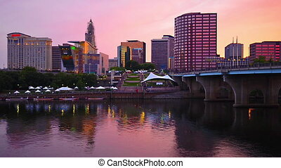Hartford, Connecticut Skyline - Hartford, Connecticut from...
