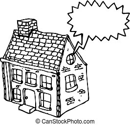 cartoon farm house