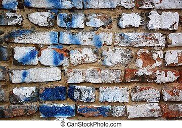 --Grunge wall with old paint