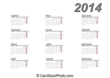 Portugalczyk, Kalendarz,  2014