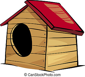 doghouse clip art cartoon illustration - Cartoon...