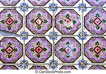 Traditional decorative Portuguese tiles - Background of...