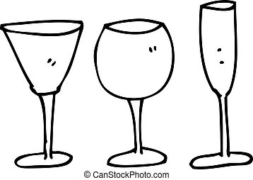 wine glass doodles