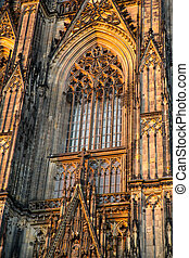 Window of the Cathedral of Cologne - A window of the...