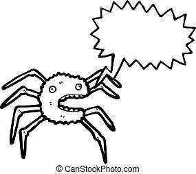 fantasmal, Araña, caricatura