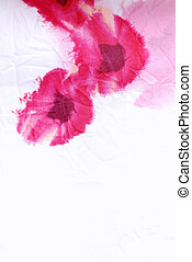 floral crumpled fabric with red poppies - Vertical silk...