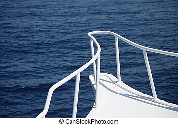 Railing - view from a yacht in the red sea
