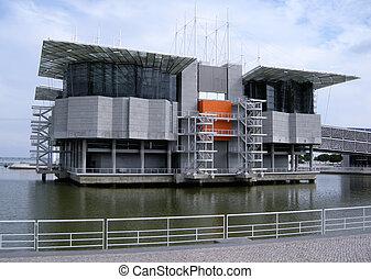 famous oceanarium in Lisbon(Portugal) - famous contemporary...