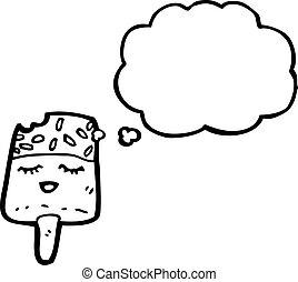 cartoon ice lolly
