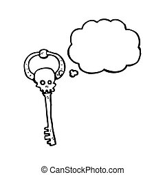 cartoon skeleton key
