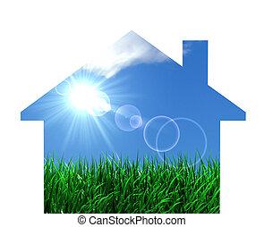 Green Eco House Concept - Green eco house conceptual design...