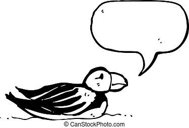 cartoon puffin
