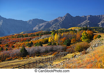 Dallas Divide - Dallas divide in Colorado in autumn time