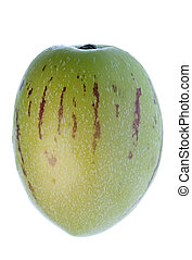Pepino Dulce (Melon Pear) Isolated - Isolated macro image of...