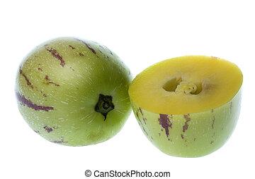 dulce,  (melon, aislado,  pears),  Pepino