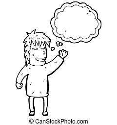 person with thought bubble