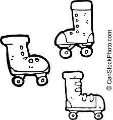 cartoon roller skates