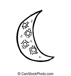 cartoon crescent moon - crescent moon