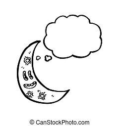 cartoon crescent moon