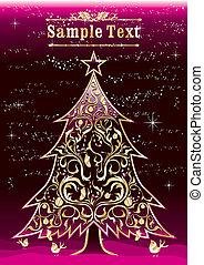 Vintage christmas tree design