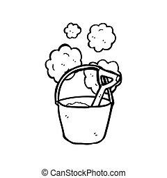 bucket and spade cartoon