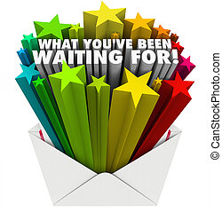 What You've Been Waiting For Envelope Stars Words - The...