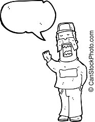 cartoon mechanic talking repairs