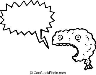 shouting brain cartoon
