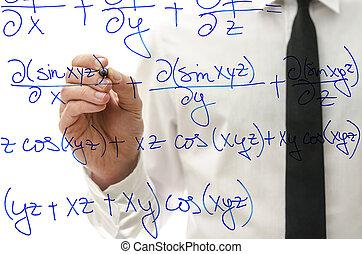 escritura, complicado, matemáticas, ecuación,...