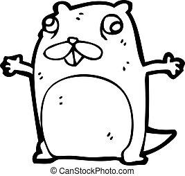 funny cartoon beaver