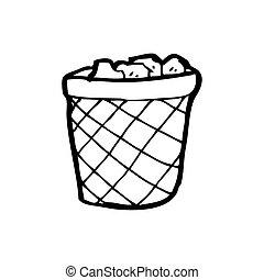 cartoon rubbish bin