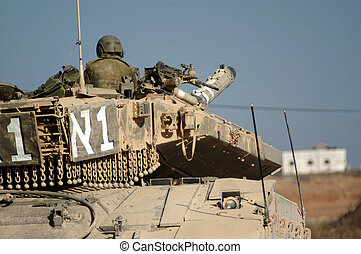 Israel Army Tank - KISSUFIM,ISR - DEC 06:Merkava Tank on DEC...