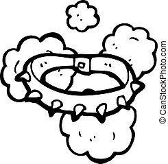 cartoon spikey dog collar
