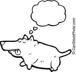 cartoon fat dog