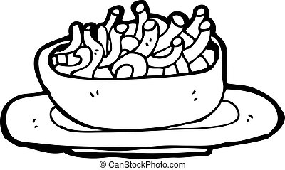 cartoon noodle bowl