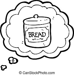 cartoon dreaming of bread