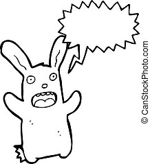 startled rabbit cartoon character