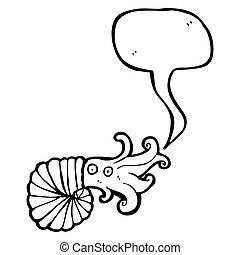nautilus squid cartoon