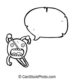 cartoon atom symbol