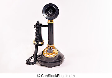 antique telephone - antique black telephone