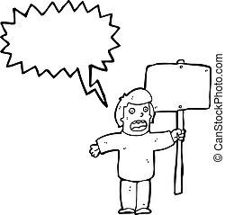 抗議者, 政治, 卡通, 簽署