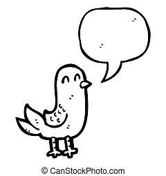 cartoon bird singing