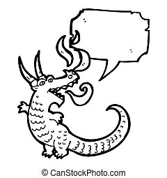 fire breathing dragon cartoon